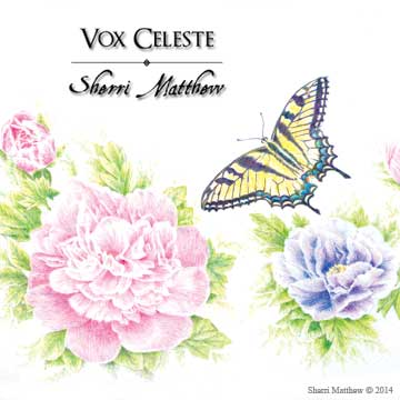 Colored pencil artwork by Sherri Matthew for CD booklet insert: Ave Maria (Arcadelt) © 2014 Sherri Matthew