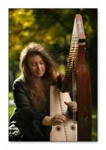 Sherri Matthew with Triplett Luna 36 string wire harp