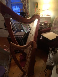 Triplett Luna and Stoney End Isabelle wire-strung harps